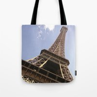 eiffel tower Tote Bags featuring Eiffel Tower by caroline
