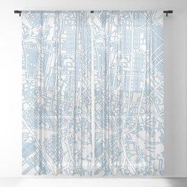 Street MAP Manila // Blue Sheer Curtain