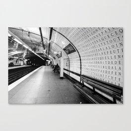 Inside Concorde Metro Canvas Print