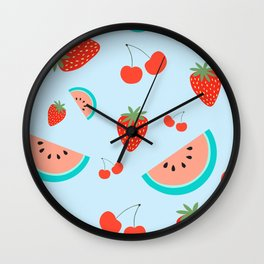 Fuit Salad (Baby Blue) Wall Clock
