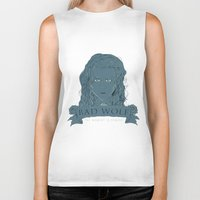 bad wolf Biker Tanks featuring Bad Wolf by AmdyDesign