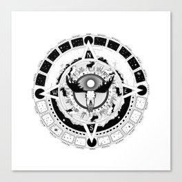 Aztec Moose Calendar Canvas Print