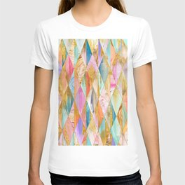 Justine Abstract Brushstrokes Pattern T-shirt