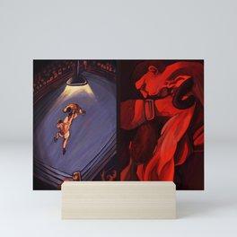 Boxe round 2 Mini Art Print