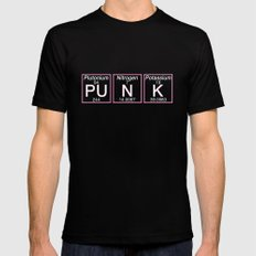 Periodic Punk Black Mens Fitted Tee LARGE