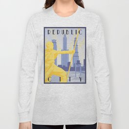 Republic City Travel Poster Long Sleeve T-shirt