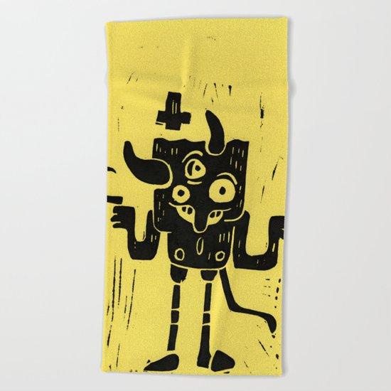 devil Beach Towel