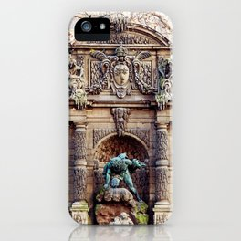 Medici Fountain in Autumn iPhone Case