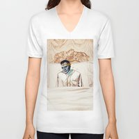 infamous V-neck T-shirts featuring Arsenic and Old Lace by Alec Goss