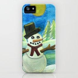 Sun-Kissed Snowman iPhone Case