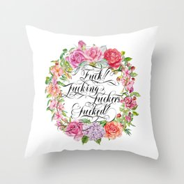 Fucking versatile Throw Pillow