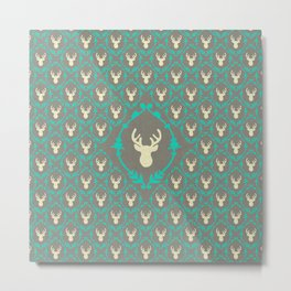 Oh Deer (white) Metal Print