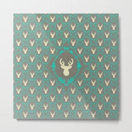 Oh Deer (white) Metal Print