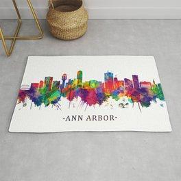 Ann Arbor Michigan Skyline Rug