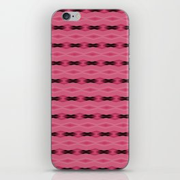 Pink and Black Diamond Pattern iPhone Skin