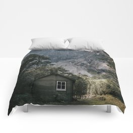 Mountain Cabin - Landscape and Nature Photography Comforters