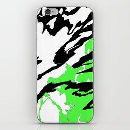 Green and Black iPhone Skin
