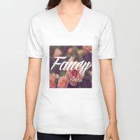 fancy V-neck T-shirts featuring Fancy by Aitana Yvette