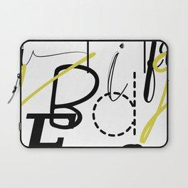 Fun Typography Laptop Sleeve