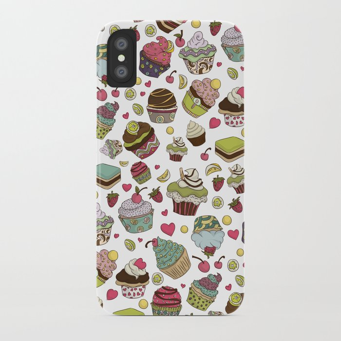 Cupcakes! (in color) iPhone Case