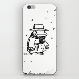 Bundled Ape Returns Books in the Snow iPhone Skin