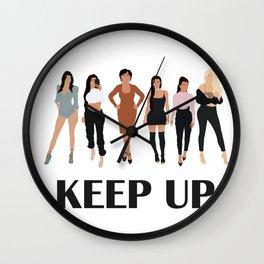 Keep Up Wall Clock