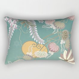 Beautiful Peaceful Scene of Flowers in the Wind Rectangular Pillow