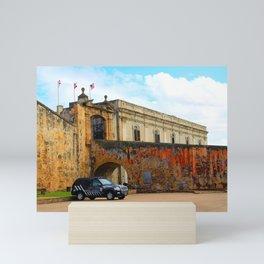 San Juan Port Police Vehicle Mini Art Print