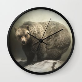 Grizzly Moments Wall Clock