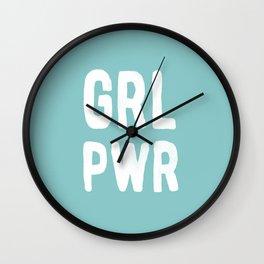GRL PWR (Blue) Wall Clock