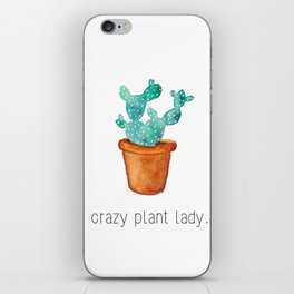 Crazy plant lady iPhone Skin