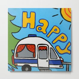 Happy Camper Metal Print