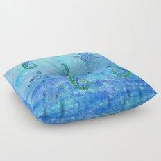 Sea Turtle Batik Floor Pillow