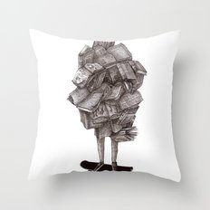 all about learning Throw Pillow