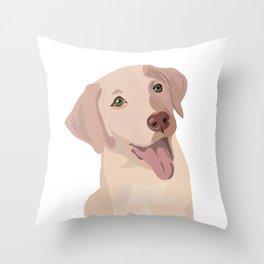 Golden (Lab) Girl Throw Pillow