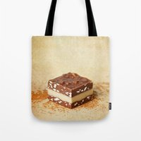 chocolate Tote Bags featuring chocolate by lucyliu