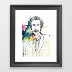 Ron Burgundy, Anchorman of Legend Framed Art Print