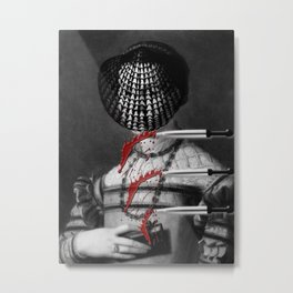 3 OF SWORDS ( FROM THE 'BLOODY TAROT' SERIES) Metal Print