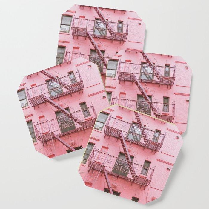 Pink Soho NYC Coaster
