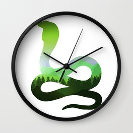 King of All Snakes Wall Clock