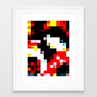 pixel Framed Art Prints featuring pixel by shopcicelysiller