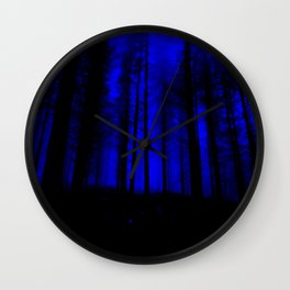 fantasy forest at night Wall Clock