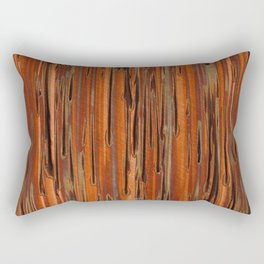 Copper Paint Stripe Rectangular Pillow