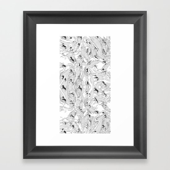 Zebra Cowboys Framed Art Print
