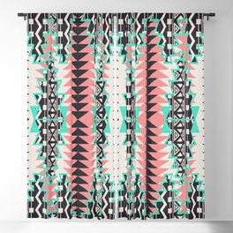 Tribal Beat Geo Pastel Blackout Curtain