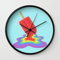 popsicle Wall Clocks featuring Popsicle by BTP Designs