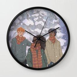 Golden Trio Wall Clock