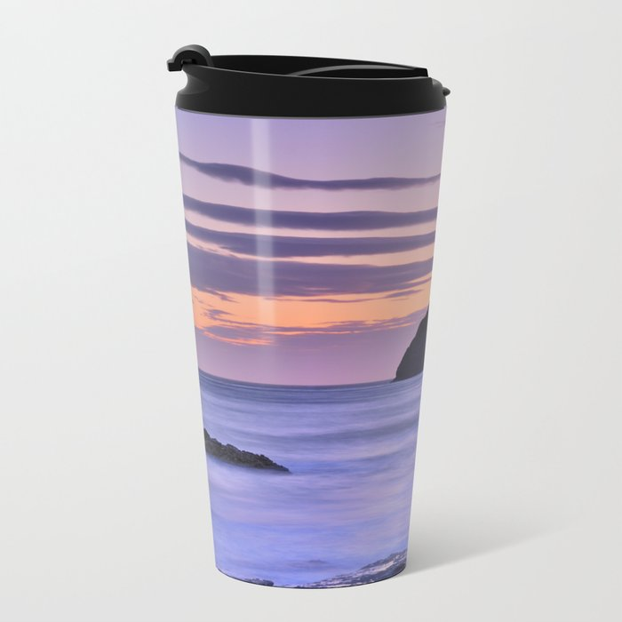 """Purple sea"" Metal Travel Mug"