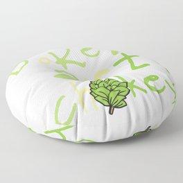 Funny Vegan Artichoke Vegetable product Floor Pillow