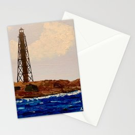 The Light at Marblehead Neck, MA Stationery Cards